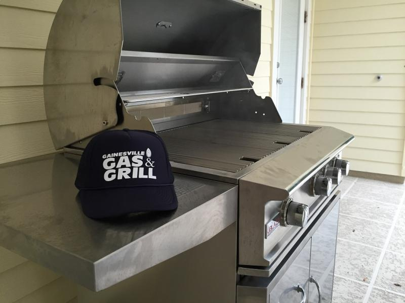 Propane Grill Assembled and Connected